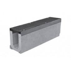 Канал из бетона с чугунной решеткой